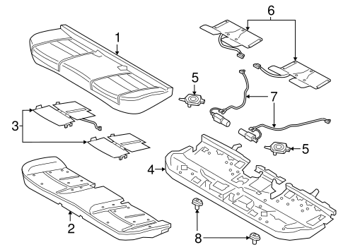 Rear Seat Components For 2017 Lincoln Continental