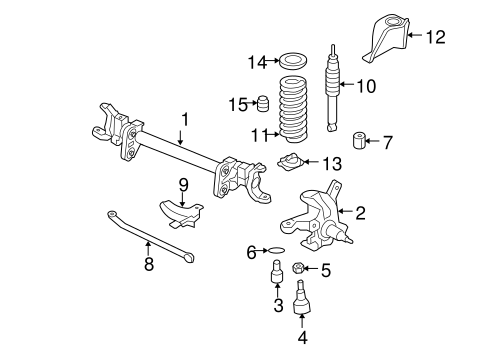Front Suspension/Suspension Components for 2005 Ford F-350 Super Duty #4