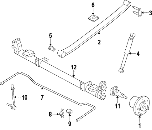Rear Suspension/Rear Axle for 2013 Ford Transit Connect #1