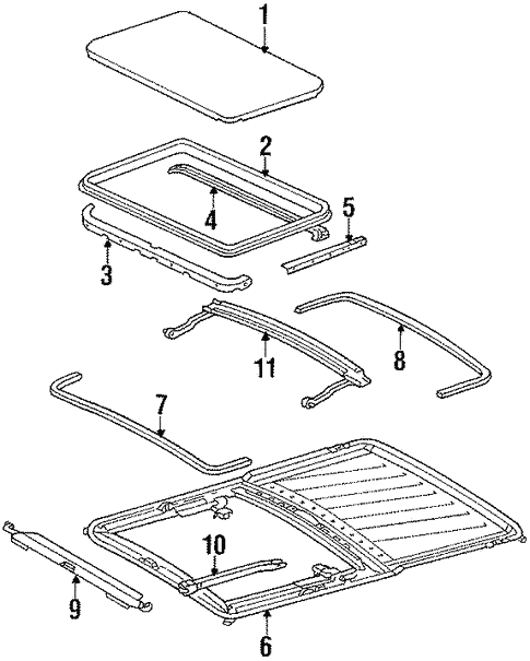 Sunroof for 1995 Mercedes-Benz E 320 #2