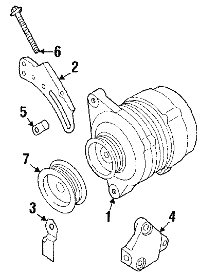 Alternator Adjust Bolt - Infiniti (11719-53J1A)