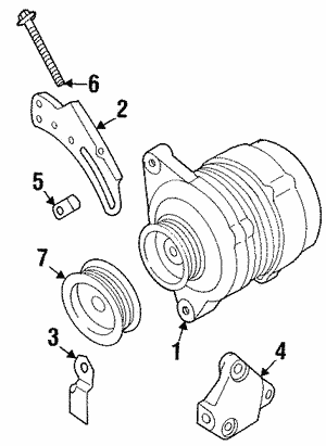 Alternator Adjust Bolt