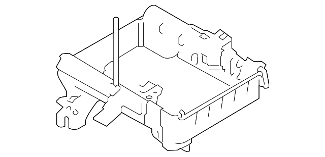 Battery Tray Ford Ag1z10732d: 62 Lincoln Engine Diagram For Parts At Daniellemon.com