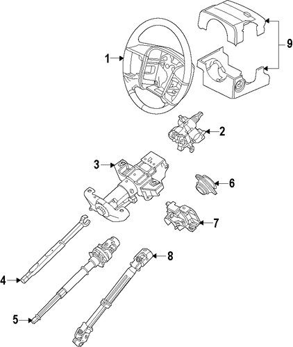 Steering/Steering Column for 2011 Ford Expedition #1