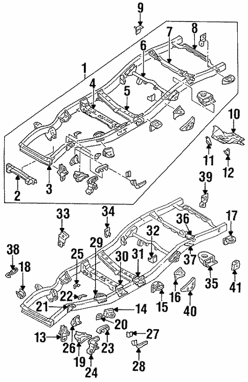 Frame Components For 1995 Nissan Pathfinder