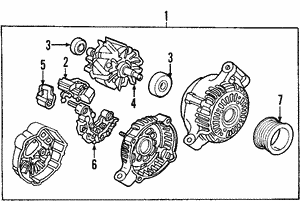 Alternator (RMD) Core ID A002TB5791R (Mitsubishi)