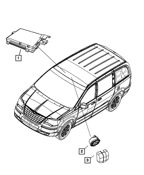Genuine Chrysler 56054911AE Occupant Restraint Module