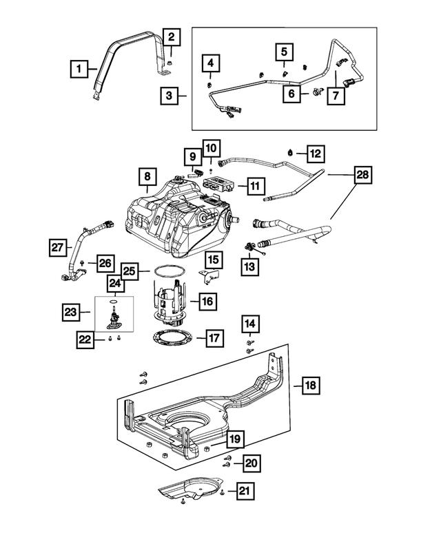 Genuine Chrysler 68085937AA Fuel Vapor Hose