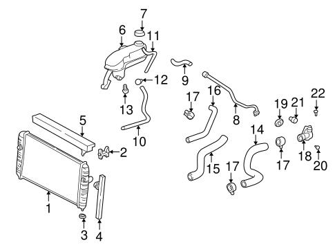 oem 2000 oldsmobile alero radiator components parts. Black Bedroom Furniture Sets. Home Design Ideas