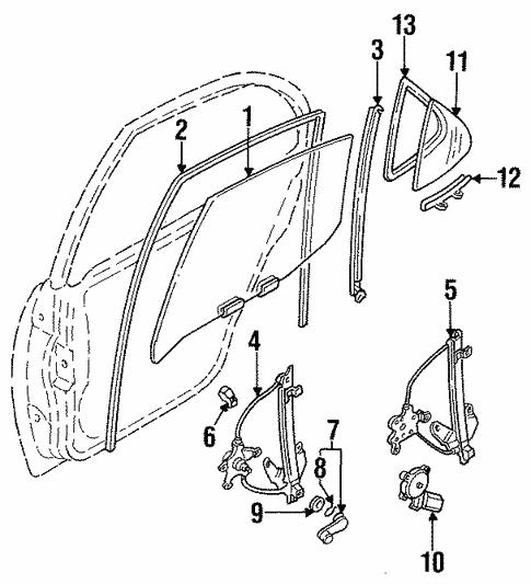 Rear Door For 1997 Nissan Altima