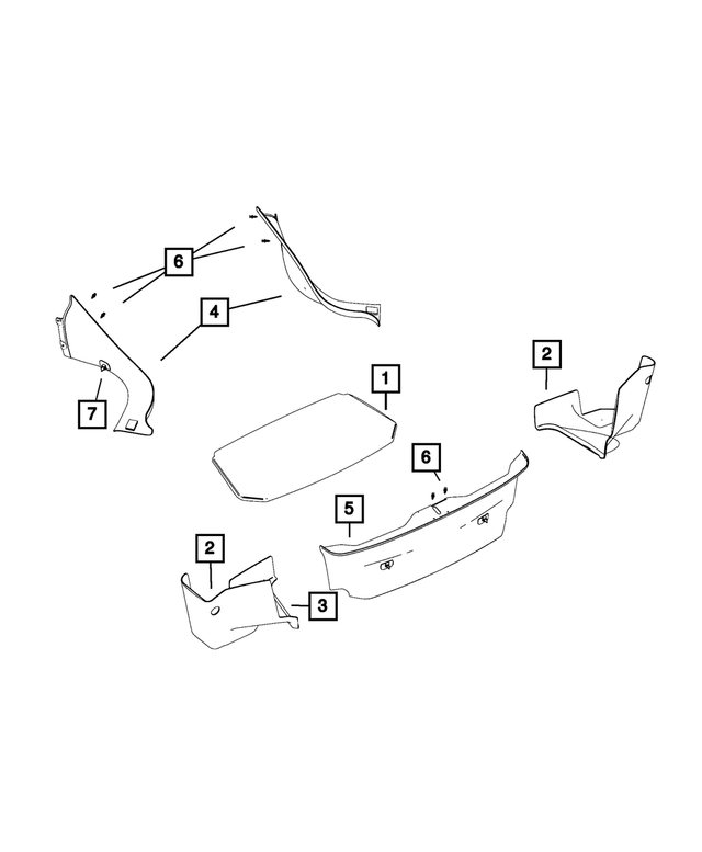 Trunk Carpet - Mopar (6DZ31DX9AA)