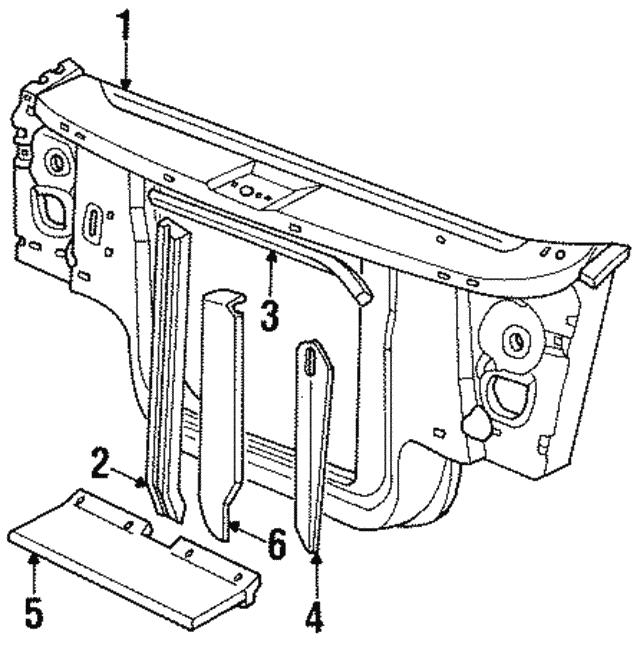 1995 Dodge Dakota Body Diagrams