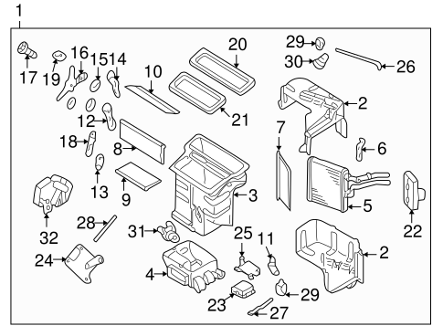 Heater Components For 1998 Infiniti Qx4