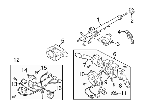 Steering Column Assembly for 2004 Subaru Forester #0