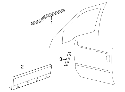 Body/Exterior Trim - Front Door for 2002 Ford Excursion #2
