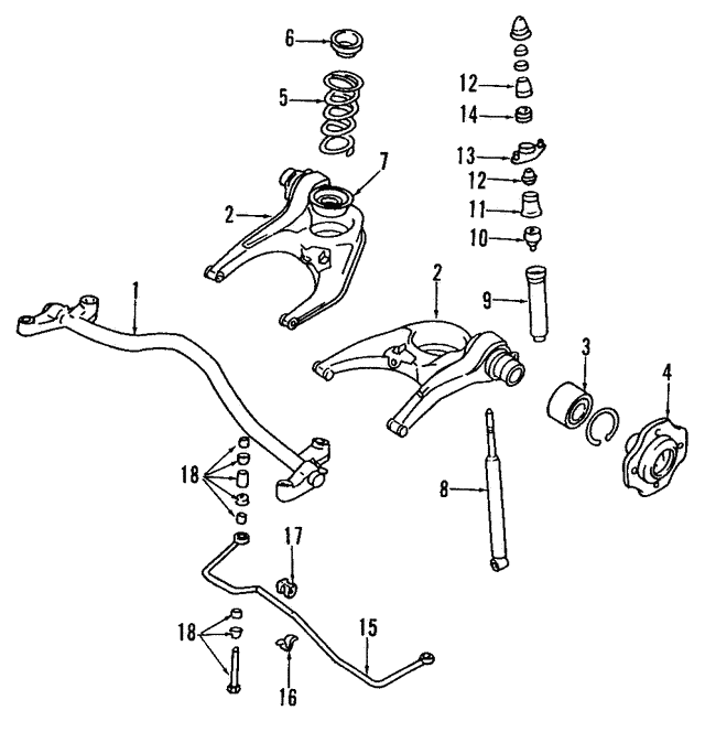 Lower Control Arm - Mitsubishi (MB663542)