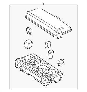 2013 2015 chevrolet malibu fuse relay box 20960720. Black Bedroom Furniture Sets. Home Design Ideas