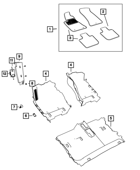 CFMBX1DG9234 Coverking Custom Fit Front and Rear Floor Mats for Select Dodge Charger Models Black Nylon Carpet