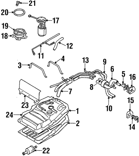 Fuel System Components For 2001 Isuzu Rodeo