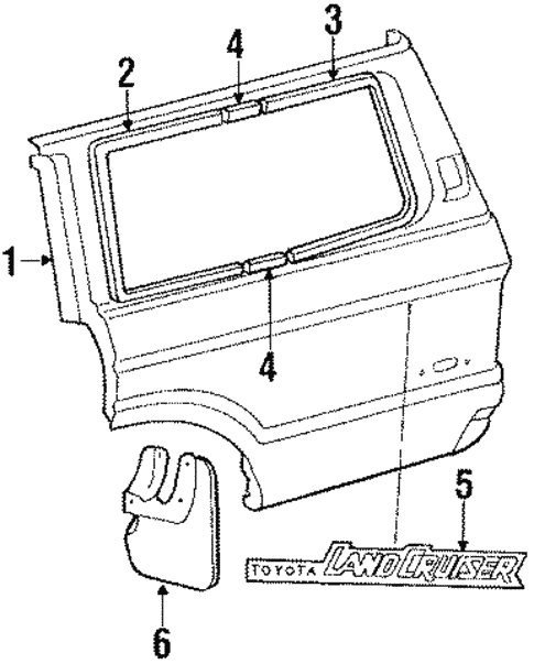 Outer Components for 1984 Toyota Land Cruiser #0