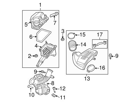 oem 2006 chevrolet cobalt air intake parts. Black Bedroom Furniture Sets. Home Design Ideas