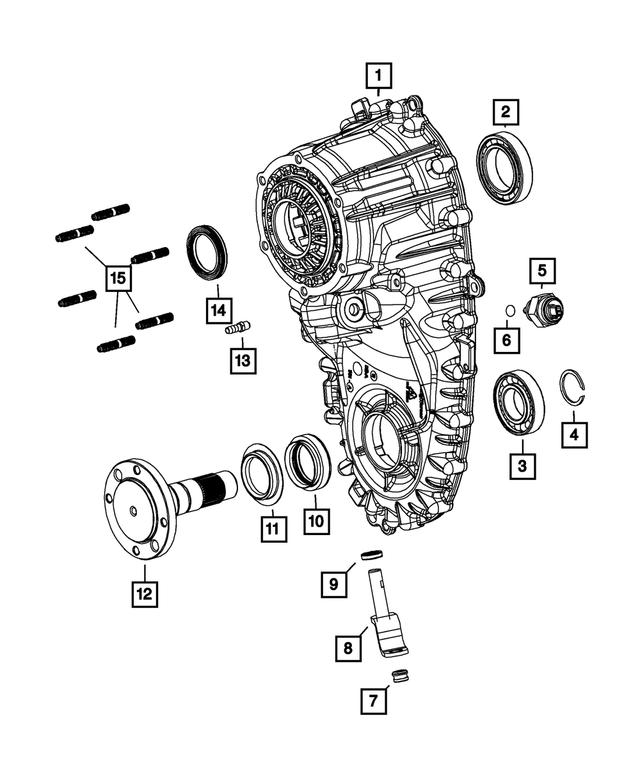 Genuine Chrysler 68142281AB Electrical Transfer Case Switch
