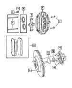 Front Disc Brake Pad Kit 68248384AC