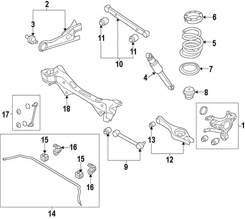 Rear Suspension for 2015 Hyundai Santa Fe Sport #4