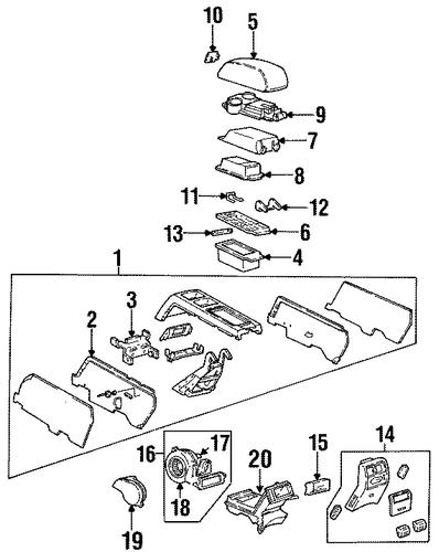 oem 1993 cadillac eldorado console parts