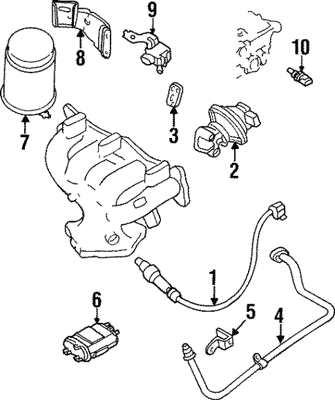 Genuine Oem Powertrain Control Parts For 1996 Mazda Protege Es