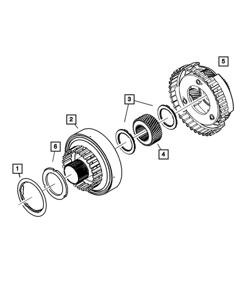 Gear Train for 2004 Jeep Grand Cherokee #3