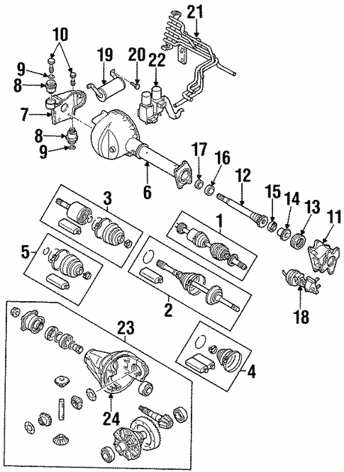 Front Axle Carrier For 2002 Isuzu Rodeo Sport