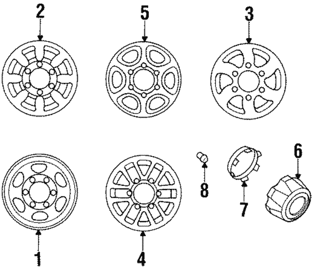 Wheel, Steel - Mitsubishi (MR112815)
