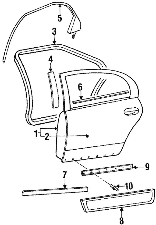 1993 1997 Dodge Intrepid Door Shell 4897975aa