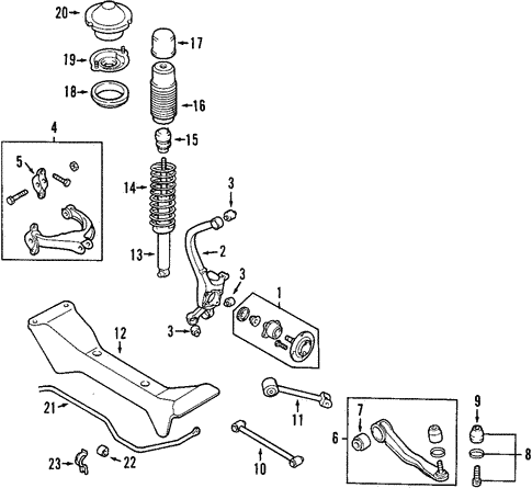 Rear Genuine Hyundai 55511-39600 Stabilizer Bar