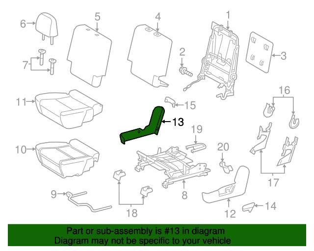 Toyota Genuine 71829-47010-B1 Seat Cushion Molding