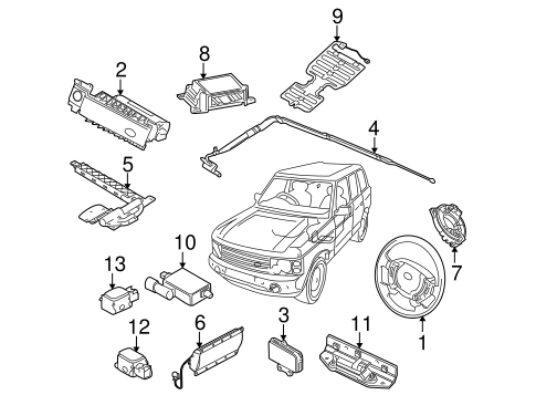 Air Bag Components For 2003 Land Rover Range Rover