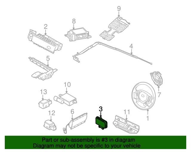 2005 2015 Land Rover Side Impact Inflator Module Lr018581