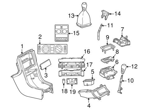 Front console for 1999 mercedes benz slk 230 mbonlinepart for Mercedes benz slk230 parts