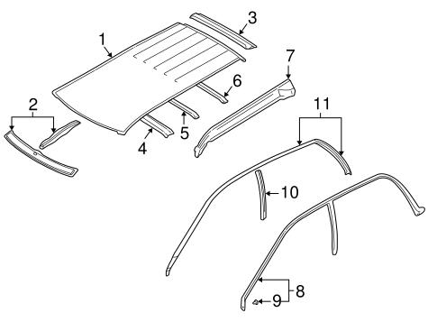 bodyexterior trim roof for 1999 subaru forester 1