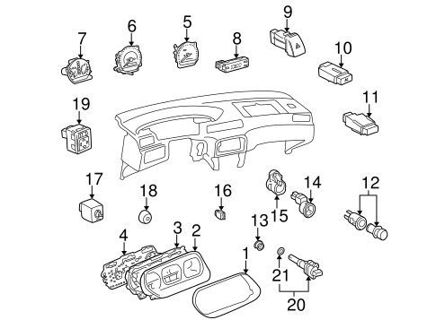 ELECTRICAL/SWITCHES for 1999 Toyota Camry #2
