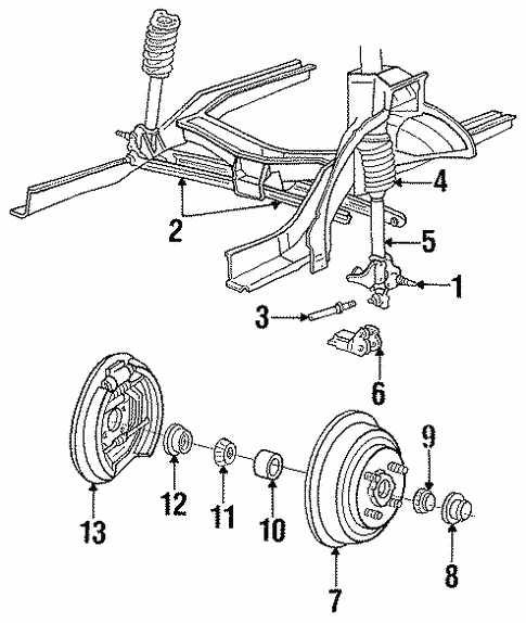 Rear Brakes for 1994 Mercury Topaz #0