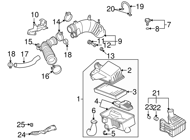 Air Cleaner Assembly Clip