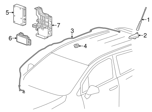 oem 2016 chevrolet trax communication system components parts. Black Bedroom Furniture Sets. Home Design Ideas
