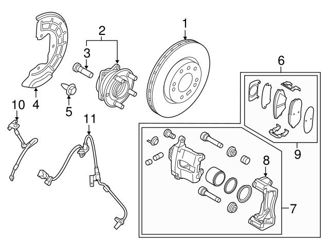 2015-2017 Hyundai Sonata Brake Pads 58101-C2A10   Delray Hyundai Parts   Hyundai Brakes Diagram      Hyundai OEM Parts