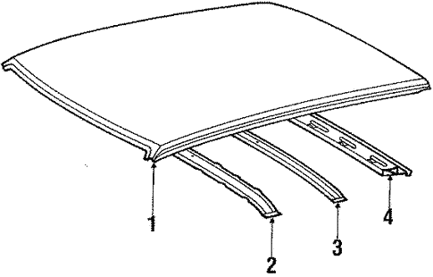 Body/Roof for 1990 Toyota Tercel #1