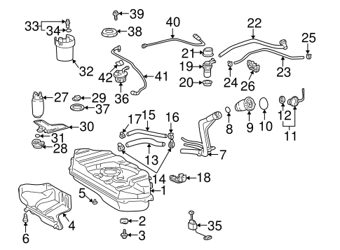 FUEL SYSTEM/FUEL SYSTEM COMPONENTS for 2000 Toyota Echo #1