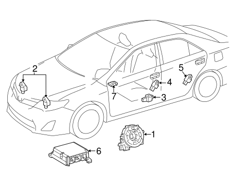 Air Bag Components For 2018 Toyota Camry