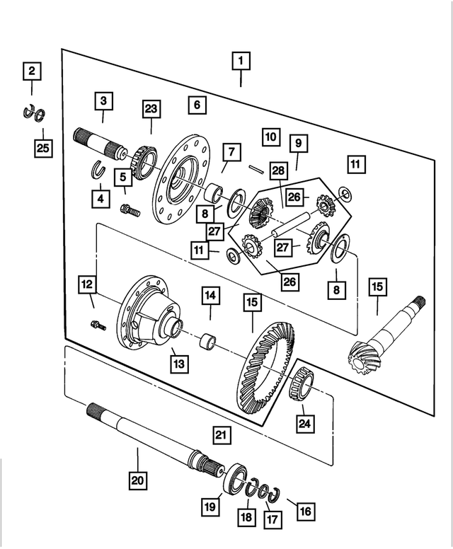 Differential Pinion - Mopar (4593112)