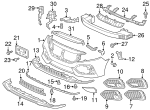 Plate, Front Bumper Middle Induction - Honda (71202-TGG-A00)
